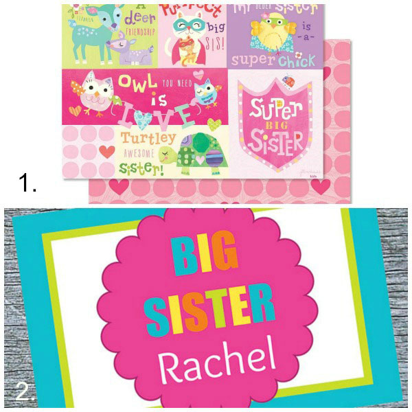 Big sister gift ideas: placemats