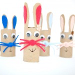 Easter bunny craft for kids. Simple craft from toilet paper / towel paper roll. | at Non Toy Gifts
