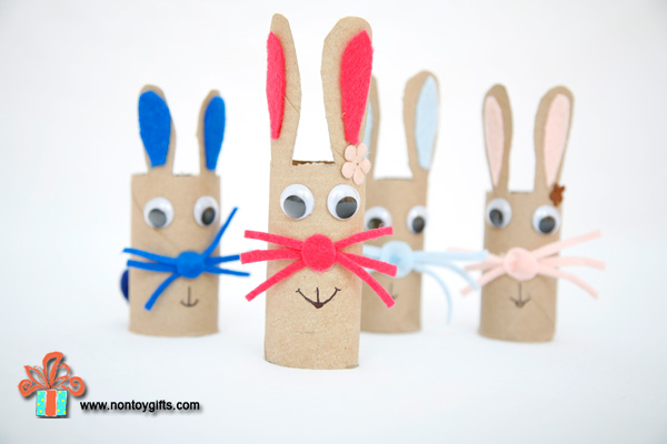 Paper Roll Bunny Craft For Kids