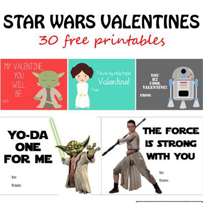 Star Wars Valentines {30 free printables}