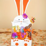 DIY Bunny Shaped Easter Basket