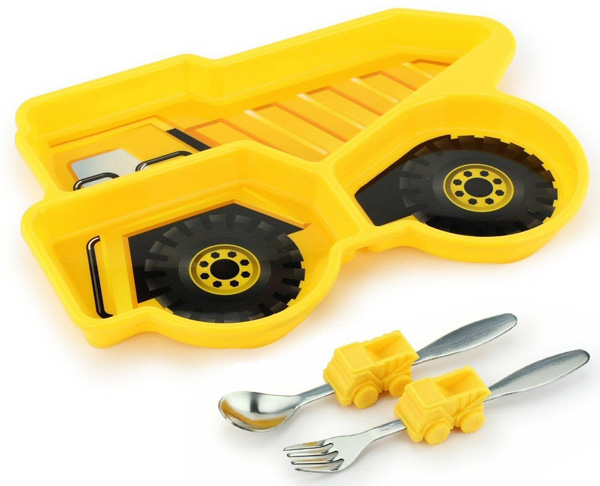 Transportation, construction and fire engine plates for boys. 6 plates that will get little ones enthusiastic about dinner time. Great gifts for picky eaters.