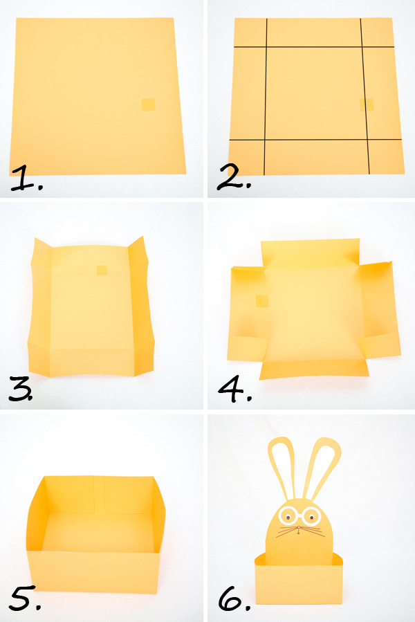 DIY Easter basket to make from card stock - with tutorial   at Non Toy Gifts