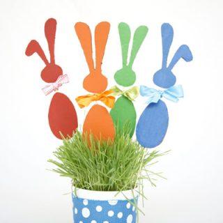 Cardboard bunny craft for kids