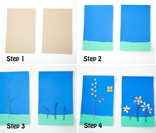Use twigs and cereals for a flower craft for kids. Adorable spring or summer craft.  at Non Toy Gifts