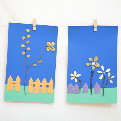 Twig and Cereal Craft for Kids