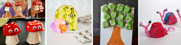 16 egg carton spring crafts for kids: mushrooms, beehive, tree, snails . | at Non Toy Gifts