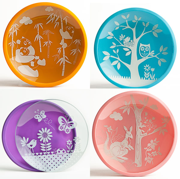 Alternatives to plastic plates for kids. Non-toxic fun and colorful plates for  sc 1 st  Non-Toy Gifts : personalized plastic plates for kids - pezcame.com