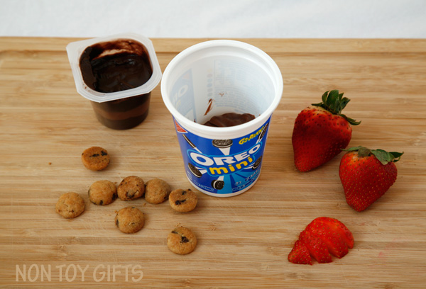 Chocolate and strawberry treats on the go