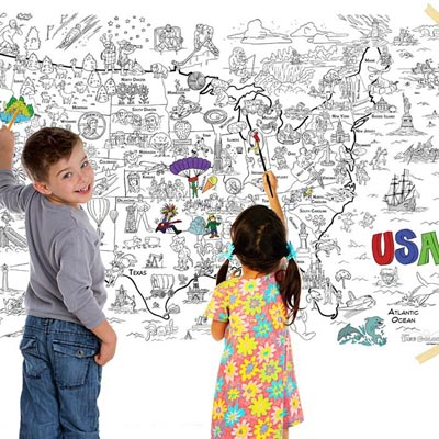 3 Giant Coloring Maps of America