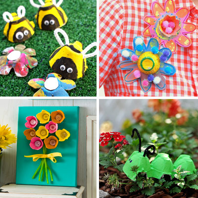 16 Egg Carton Spring Crafts for Kids