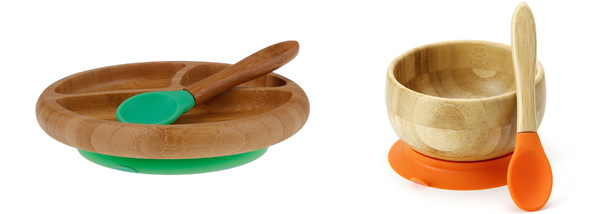 Alternatives to plastic plates for kids. Non-toxic, fun and colorful plates for kids for a healthy dinner. Ceramic, natural wood, silicone, glass and stainless steel are great eco-friendly materials. | at Non Toy Gifts