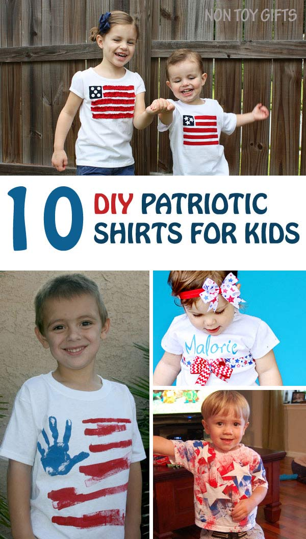 DIY patriotic shirts kids