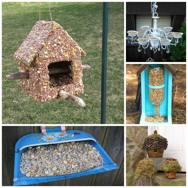 15 amazing DIY bird feeders made from recyclables. Inexpensive projects that make use of common as well as unusual recyclable items.