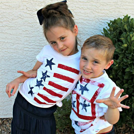 247e1775 10+ DIY patriotic shirts for kids - 4th of July craft