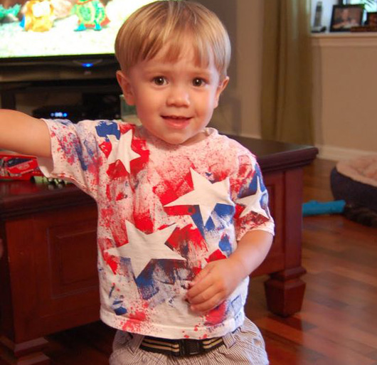 DIY patriotic shirts for kids 6