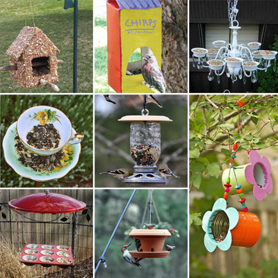 15 DIY Bird Feeders From Recyclables