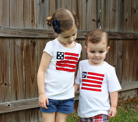 DIY patriotic shirts for kids8