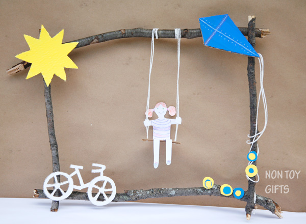 Summer twig craft for kids