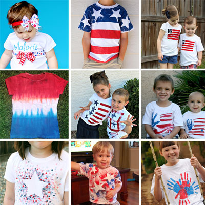 10+ DIY patriotic shirts for kids – 4th of July craft