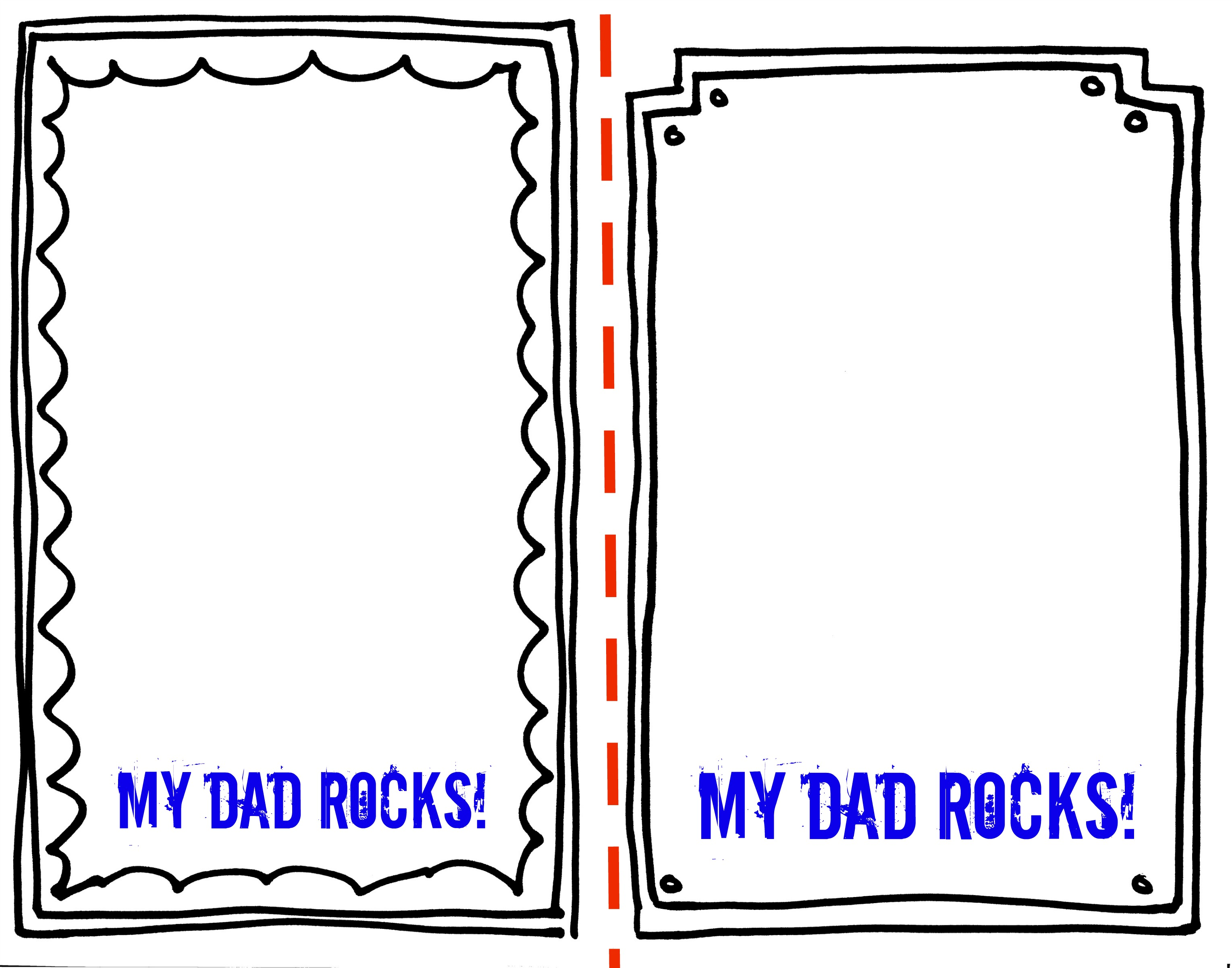 Dad Rocks Father S Day Gift Free Printable Non Toy Gifts