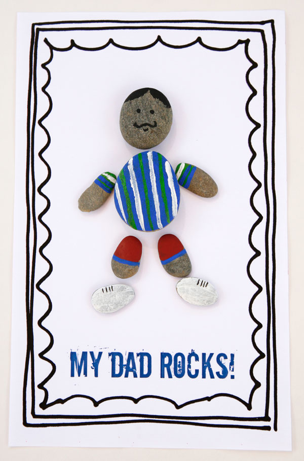 Dad rocks craft for Fathers Day