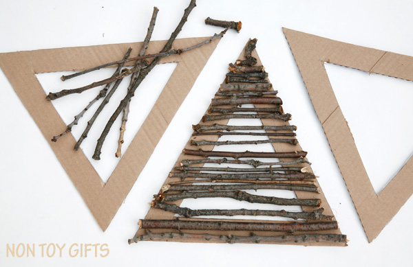 build pyramids with nature elements
