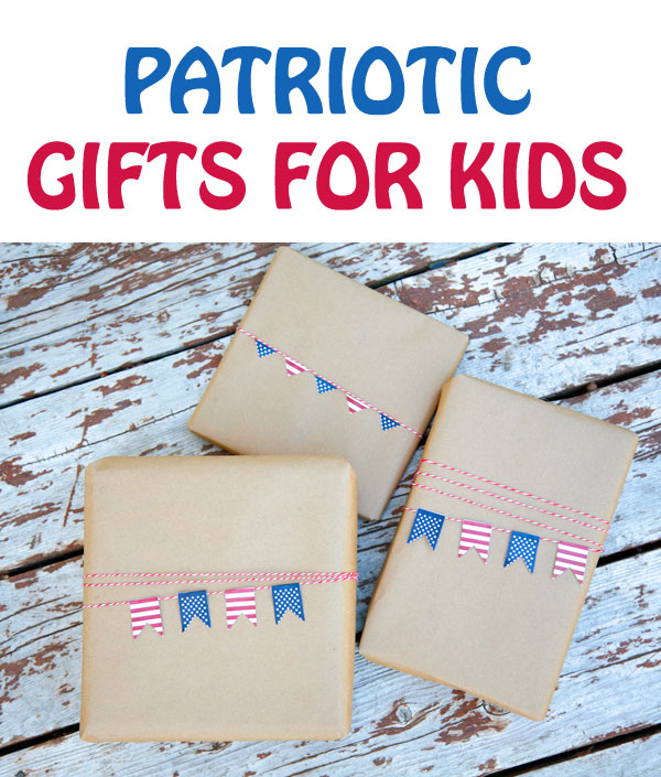 Great patriotic gifts for kids. Use this list for 4th of July or Memorial Day. Spend quality time with your family while learning about the USA history and geography: giant coloring maps, games, books and puzzles| at Non Toy Gifts