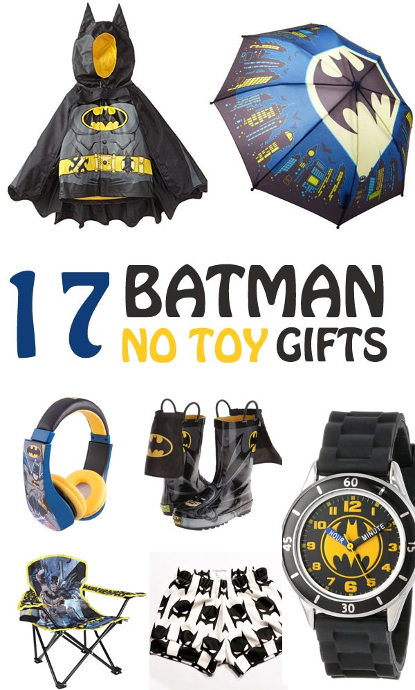 Batman gifts for kids that any superhero fans would love to receive for their birthday or Christmas. Games, practical gifts and more. | at Non-Toy Gifts