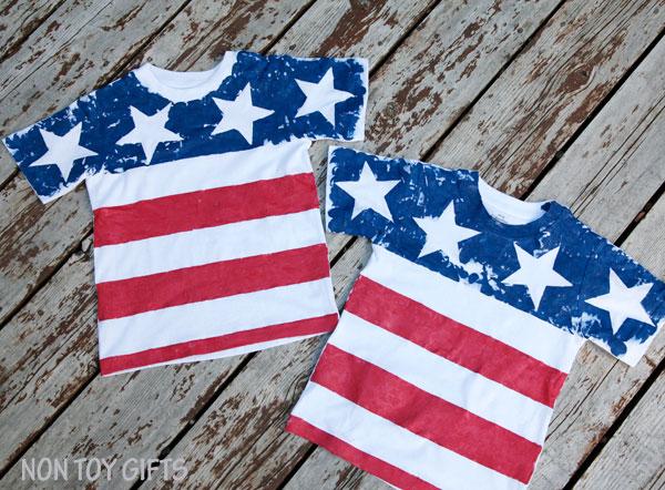 diy flag shirts for kids to make