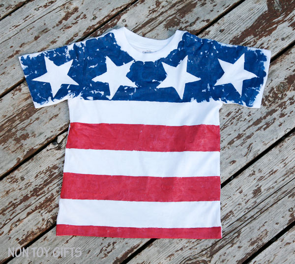 diy flag shirts for kids to make