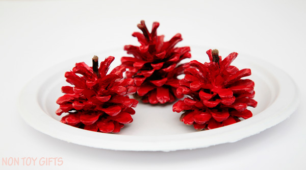 pinecone apple craft for kids