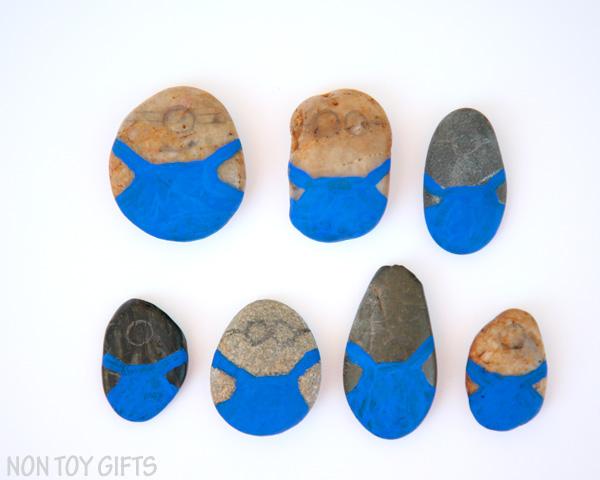 Minion painted rocks