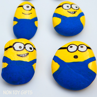 Painted Minion Rocks