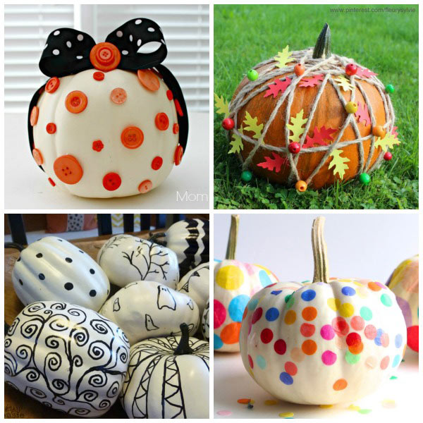 Ways for kids to decorate pumpkins without carving