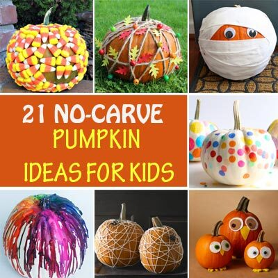 21 No-carve pumpkin ideas for kids