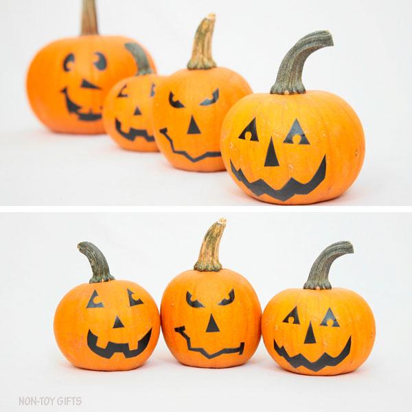 No Carve Pumpkin Faces For Kids Faux Jack O Lantern,Tuxedo Cats Wallpaper