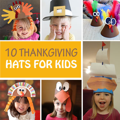 10 Thanksgiving Hats for Kids