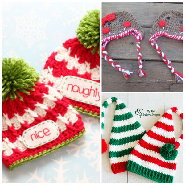 Hats for twins' first Christmas