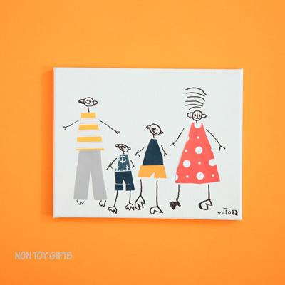 Kid-made Gift: Family Portrait