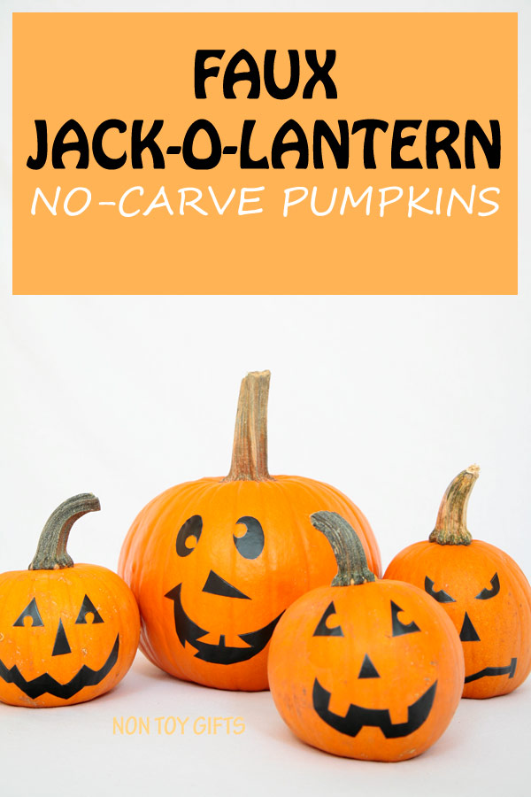 No carve pumpkin faces