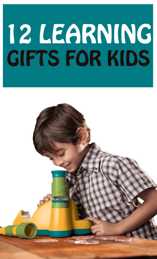 Best Learning Gifts for Kids. A list of educational toys to use for Christmas or birthdays. | at Non-Toy Gifts