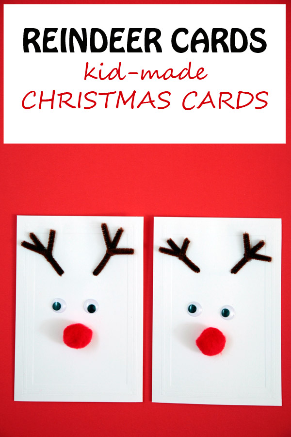 Reindeer cards: kid-made Christmas cards.