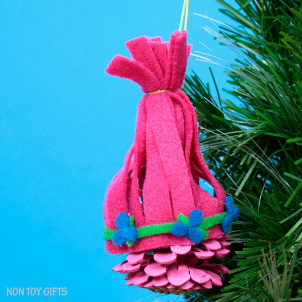 Trolls ornaments.Princess Poppy