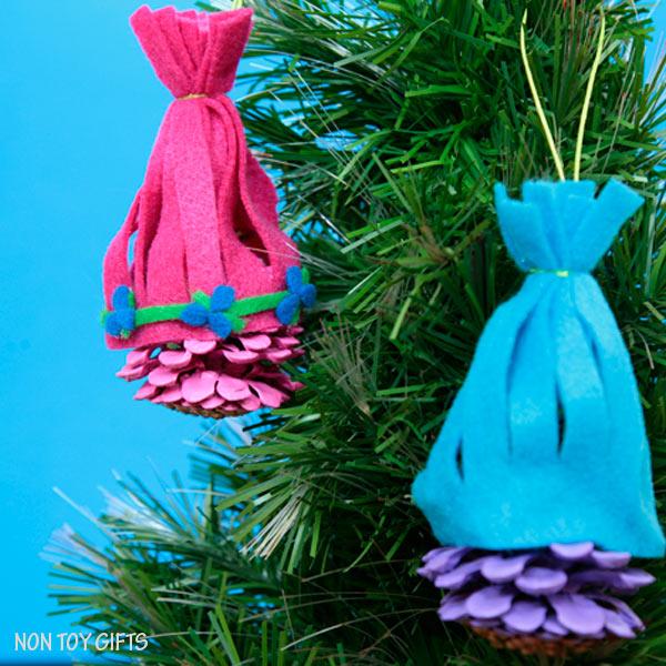Trolls ornaments.
