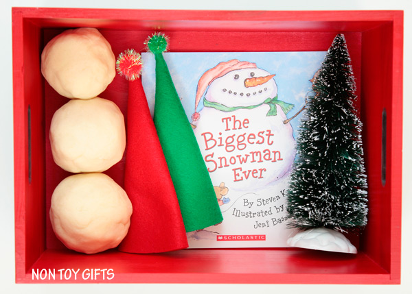 Play dough snowman kit for kids. Fun winter activity. Handmade book-inspired gift. | at Non-Toy GIfts