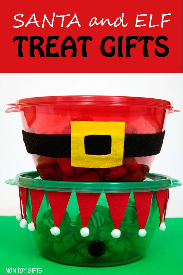 Santa and elf treat gifts to make this Christmas.