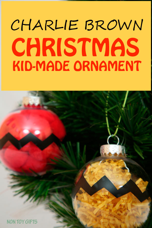 charlie brown kid made christmas ornaments easy and fun winter craft for the peanuts - Charlie Brown Christmas Decorations