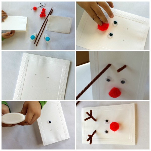 Reindeer cards: kid-made Christmas cards