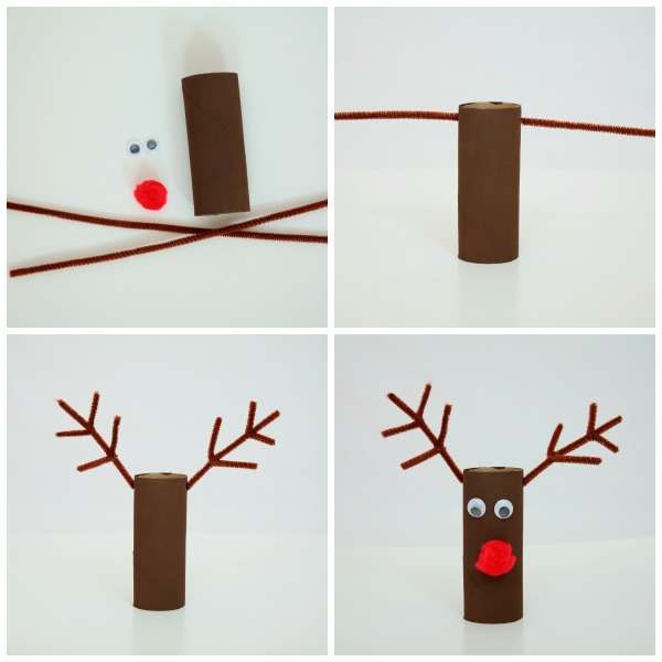 Paper plate Christmas craft - reindeer